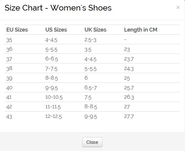 ecco shoe sizes